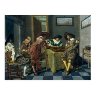 The Game of Backgammon Postcard