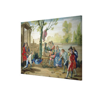 The Game of Bowls Canvas Print