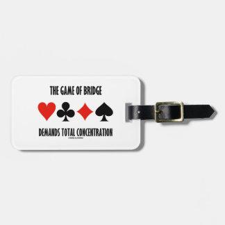 The Game Of Bridge Demands Total Concentration Bag Tag
