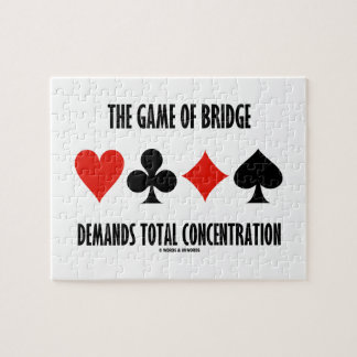 The Game Of Bridge Demands Total Concentration Jigsaw Puzzle