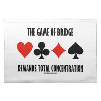 The Game Of Bridge Demands Total Concentration Cloth Place Mat
