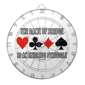 The Game Of Bridge Is An Endless Struggle Dartboard With Darts