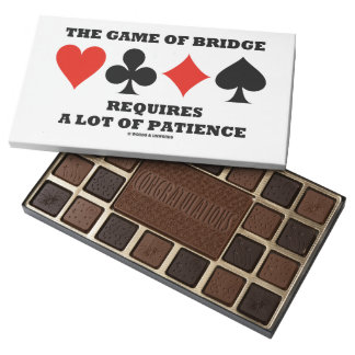 The Game Of Bridge Requires A Lot Of Patience 45 Piece Box Of Chocolates