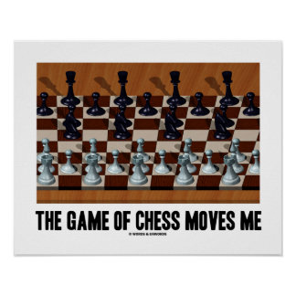 The Game Of Chess Moves Me Chess Stereogram Poster