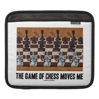 The Game Of Chess Moves Me (Chess Stereogram) Sleeve For iPads