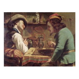 The Game of Draughts, 1844 Post Cards