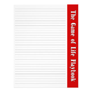 The Game of Life Binder Pages Letterhead