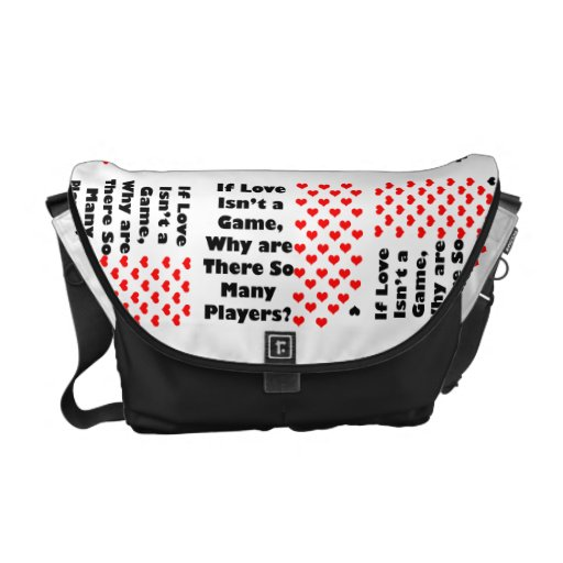 The Game of Love Humor Rickshaw Bags Courier Bags
