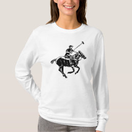The game of polo, pony and player t-shirt. T-Shirt