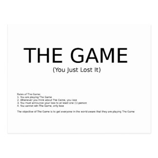 The Game Post Card