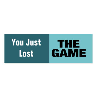 The Game Tarjetas De Visita