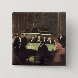 The Gaming Room at the Casino, 1889 Button
