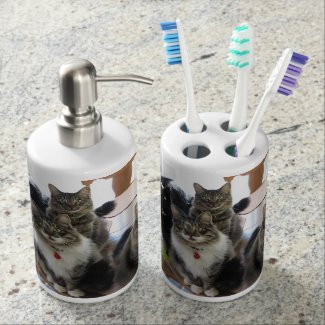 The Gang Tooth Brush and Soap Dispenser