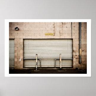 The Garage Door Poster