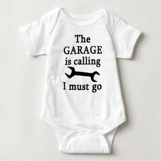 The Garage Is Calling I Must Go Baby Bodysuit
