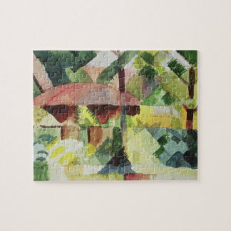 The Garden, 1914 (w/c on paper) Puzzle