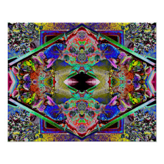 """The Garden 1"" Abstract Psychedelic Flower Art Poster"