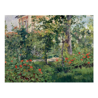 The Garden at Bellevue, 1880 Postcard
