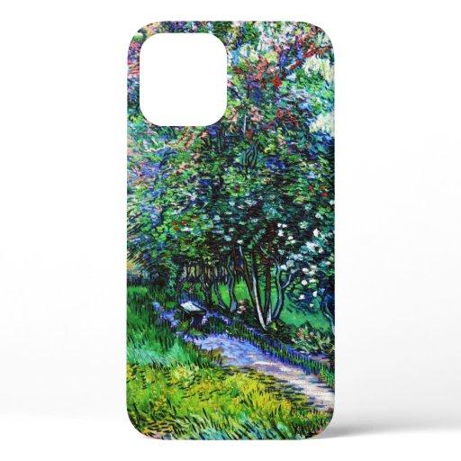 The Garden at the Asylum at Saint-Rémy, Van Gogh iPhone 12 Case