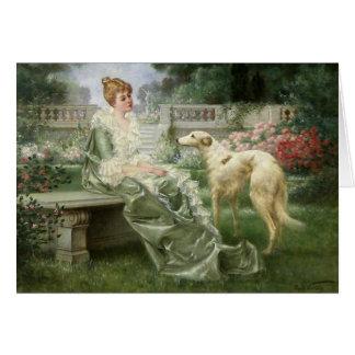 The Garden Borzoi Card