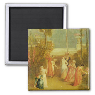 The Garden, c.1820 (oil on panel) 2 Inch Square Magnet