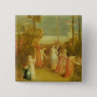 The Garden, c.1820 (oil on panel) Button