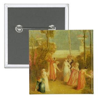 The Garden, c.1820 (oil on panel) Button