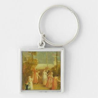 The Garden, c.1820 (oil on panel) Keychains