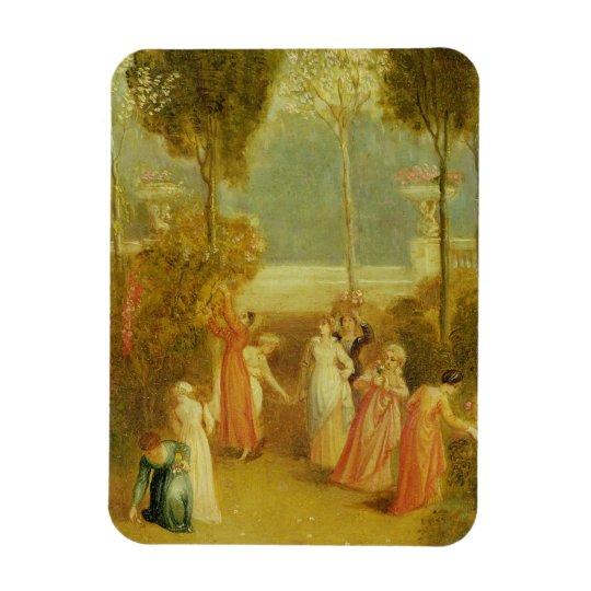 The Garden, c.1820 (oil on panel) Magnet