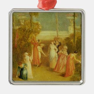 The Garden, c.1820 (oil on panel) Metal Ornament