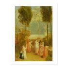 The Garden, c.1820 (oil on panel) Postcard