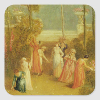 The Garden, c.1820 (oil on panel) Square Sticker