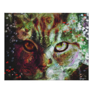 The Garden Cat Poster