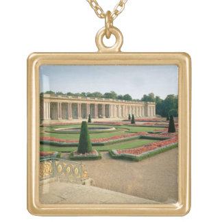 The Garden Facade of the Grand Trianon, 1687 (phot Square Pendant Necklace