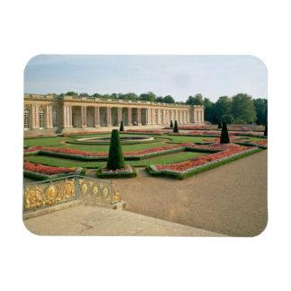 The Garden Facade of the Grand Trianon, 1687 (phot Rectangular Photo Magnet
