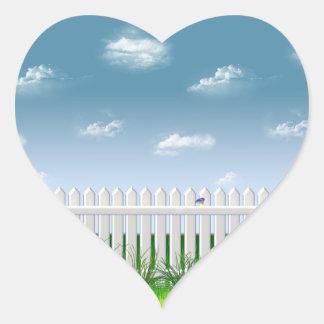 The Garden Fence Heart Sticker