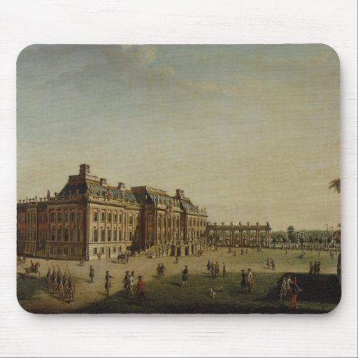 The garden front of the town castle, 1773 mouse pad