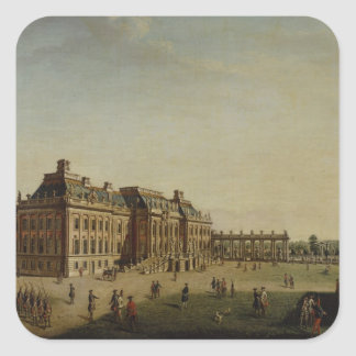 The garden front of the town castle, 1773 square sticker