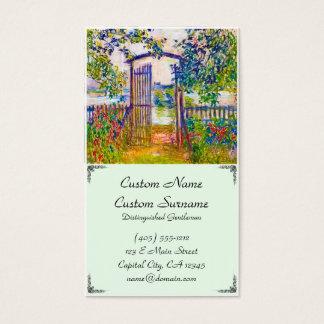The Garden Gate at Vetheuil Claude Monet Business Card