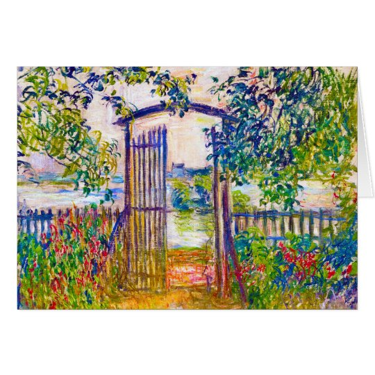 The Garden Gate at Vetheuil Claude Monet Card