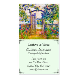 The Garden Gate at Vetheuil Claude Monet Double-Sided Standard Business Cards (Pack Of 100)