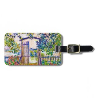 The Garden Gate at Vetheuil Claude Monet Luggage Tags