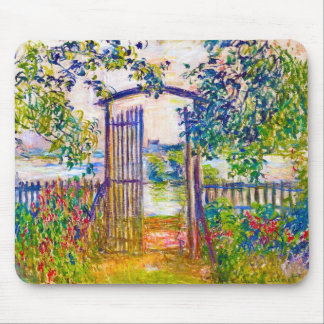 The Garden Gate at Vetheuil Claude Monet Mouse Pad