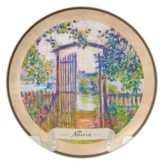 The Garden Gate at Vetheuil Claude Monet Plate