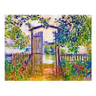 The Garden Gate at Vetheuil Claude Monet Postcard