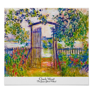 The Garden Gate At Vetheuil Claude Monet Poster