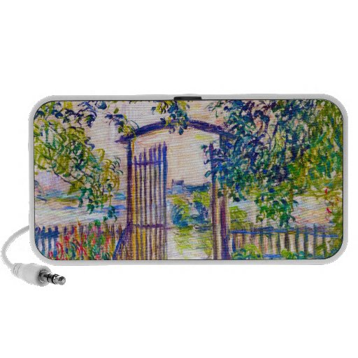 The Garden Gate at Vetheuil Claude Monet Laptop Speaker