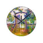 The Garden Gate at Vetheuil Claude Monet Wallclock