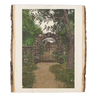 The Garden Gate Rustic Wood Panel