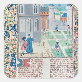 The Garden, illustration from 'Le Livre des' Square Sticker
